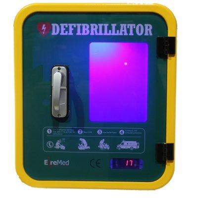 Durafib outdoor heated defibrillator storage