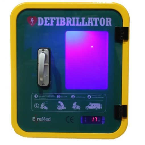 Durafib outdoor heated defibrillator storage