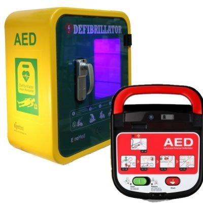 Defibrillator & Durafib Outdoor Cabinet
