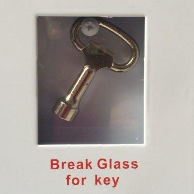 indoor cabinet break glass